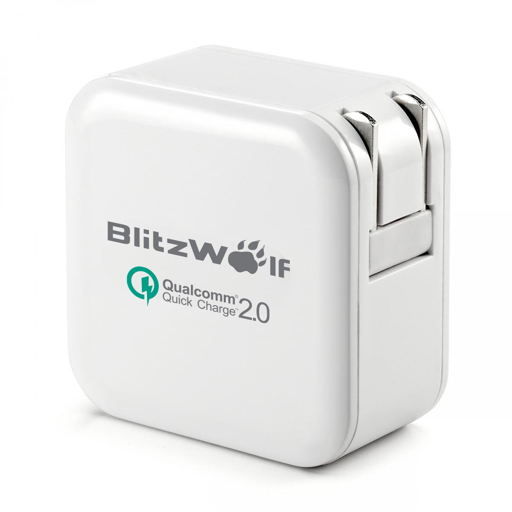 [Qualcomm Certified] BlitzWolf® QC2.0+2.4A 30W Dual USB US Charger Adapter With Power3S Tech