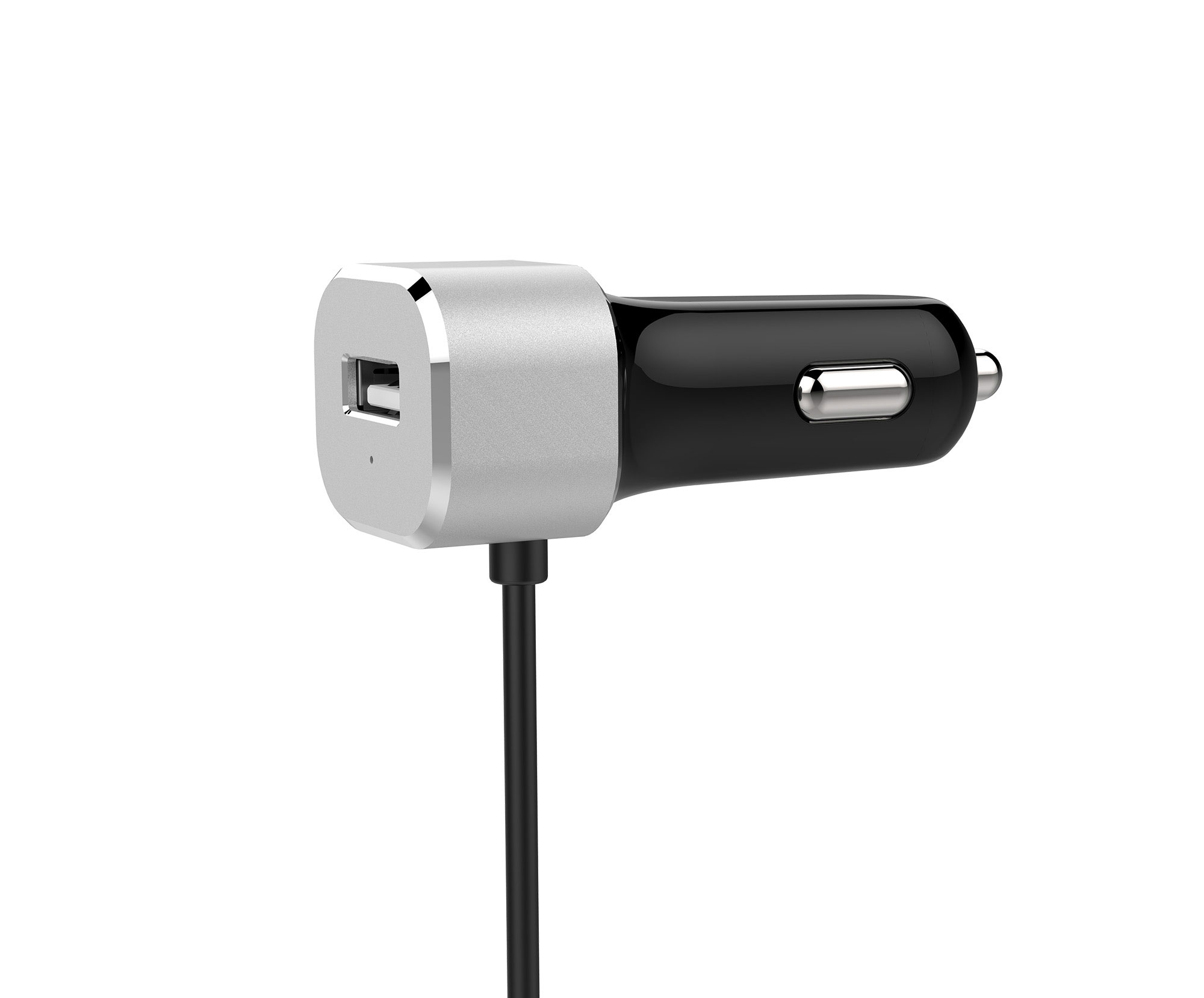 27W 1 Port Car Charger with USB-C Cable