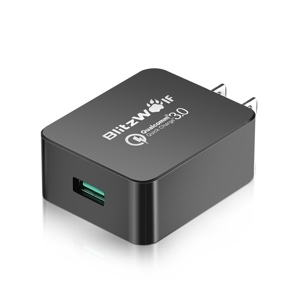 [Qualcomm Certified] BlitzWolf® QC3.0 18W USB Charger US Adapter with Power3S Tech