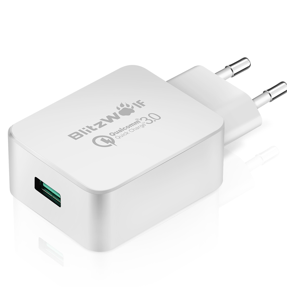 [Qualcomm Certified] BlitzWolf® QC3.0 18W USB Charger EU Adapter with Power3S Tech