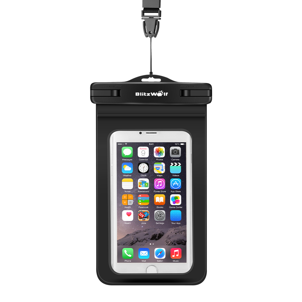 BlitzWolf BW-WB1 Universal IPX8 Waterproof Case Dry Bag With Clip For All Up To 5.5 Inch Smartphones