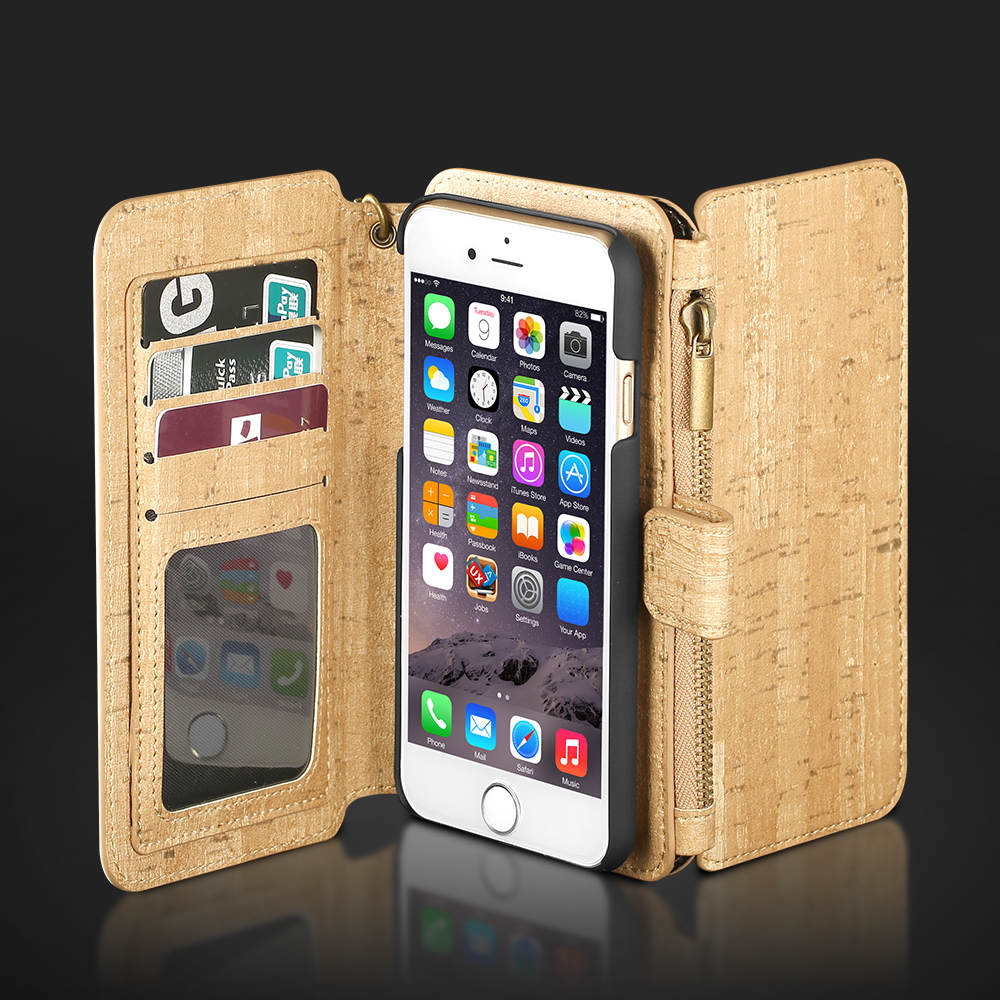 BlitzWolf BW Guardian Removable PU Zipper Wallet Card Case For iPhone 6/6S