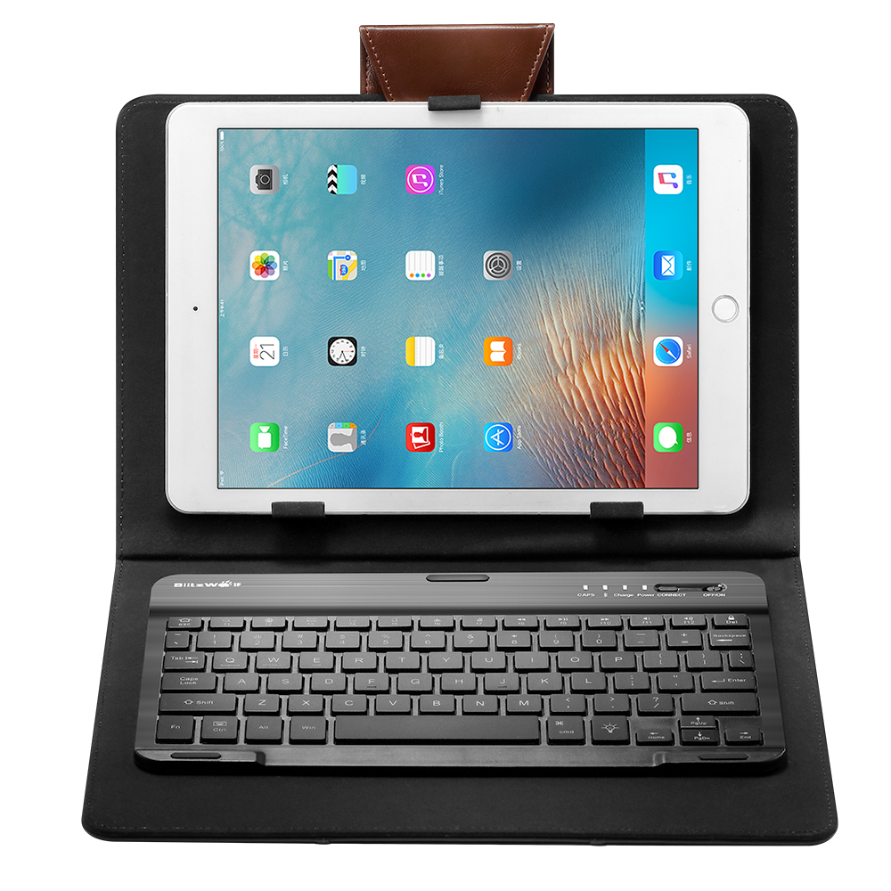 BlitzWolf® BW-KC1 Bluetooth 3.0 Backlight Keyboard PU Leather Case For iPad Tablet