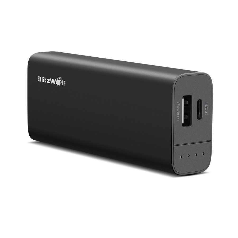 BlitzWolf® BW-PF1 6700mAh 13W Dual USB Power Bank with Type-C Input and Output