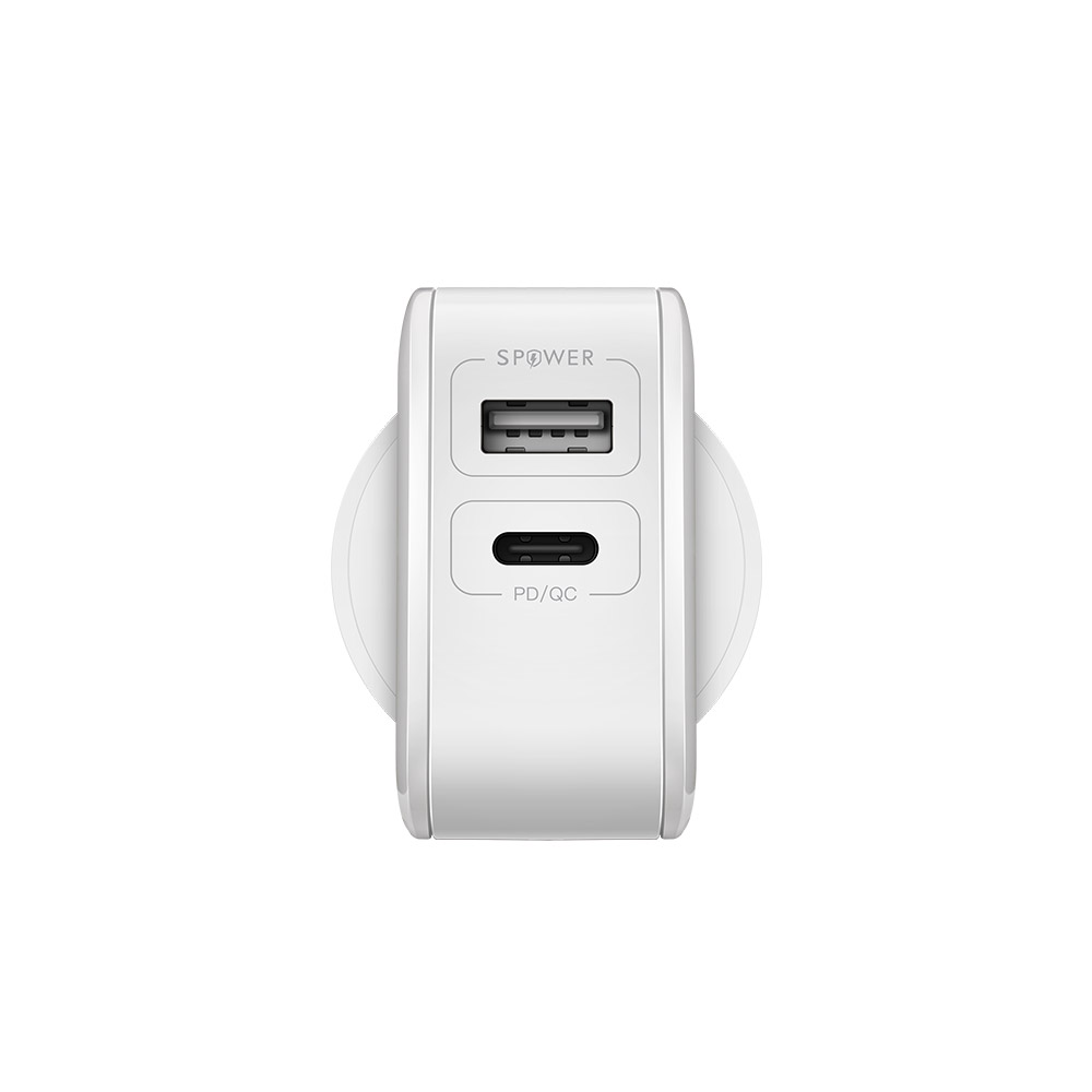 Wall Charger USB-C PD/QC3.0+Dual USBPort 30W EU