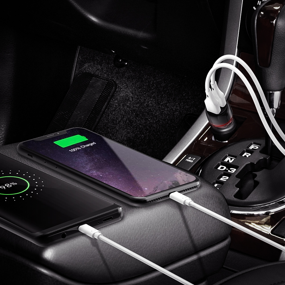 24W 2-Ports USB Car Charger