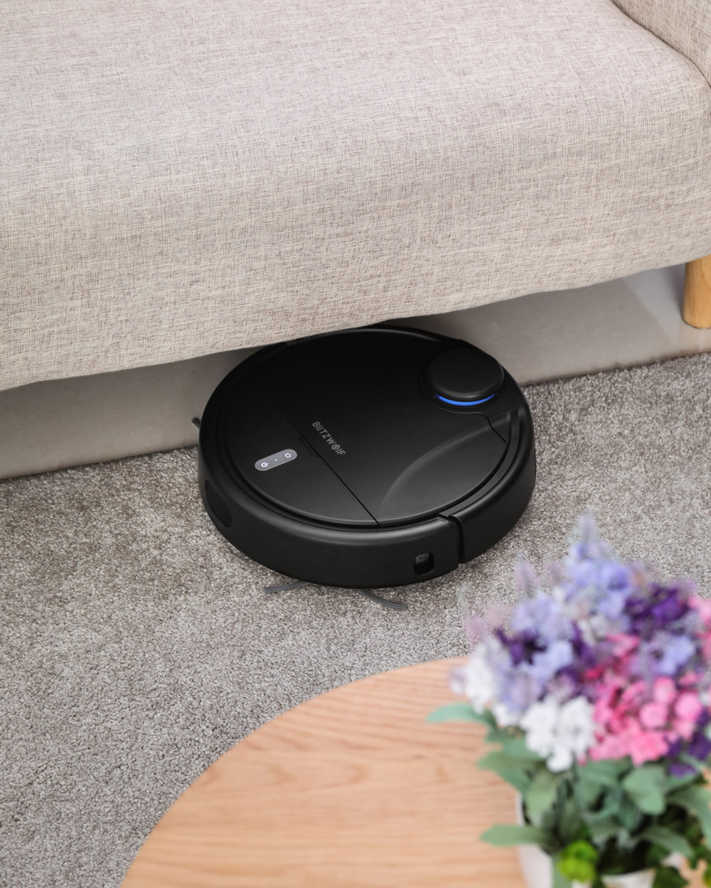 BlitzWolf®BW-VC1 Smart Robot Vacuum Cleaner with Bilateral