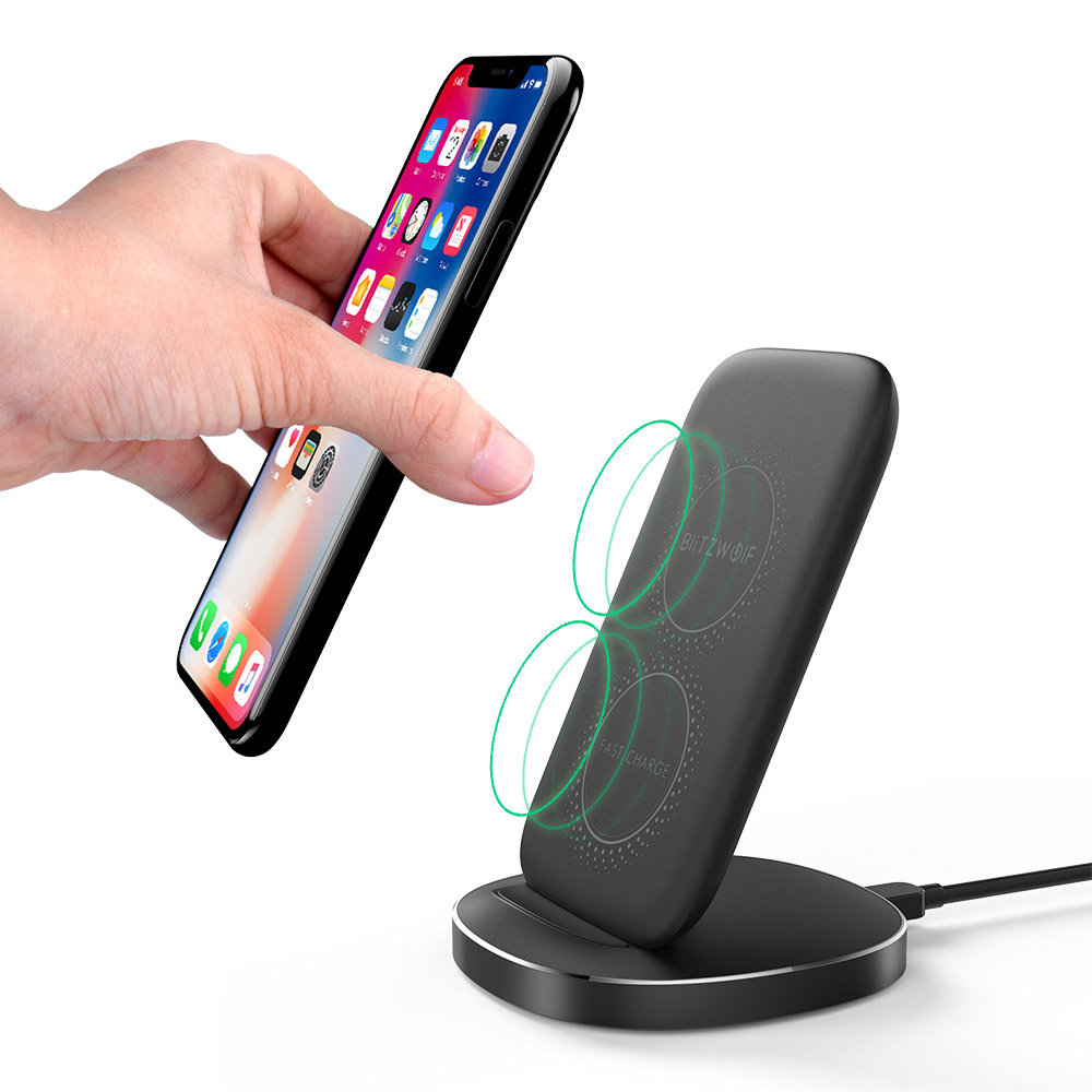 10W Qi Wireless Fast Charger Stand Holder