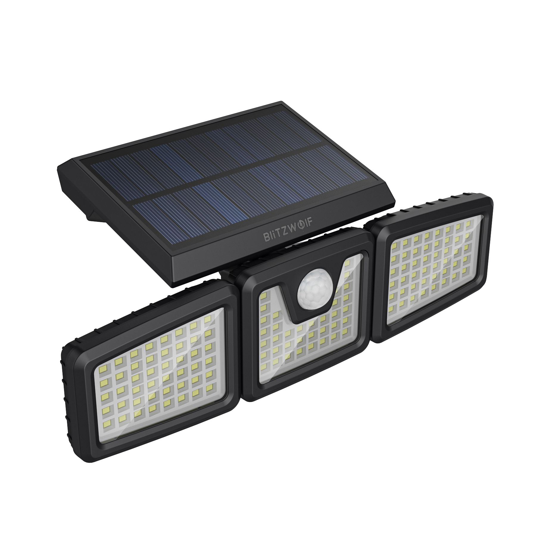 3 Heads Adjustable Solar Sensor Flood Light