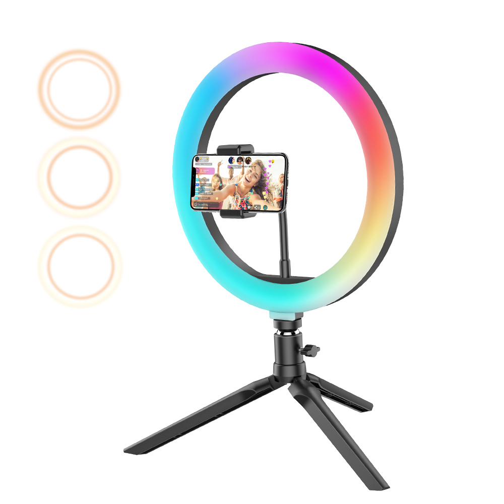 RGB Ring Fill Light Phone Holder