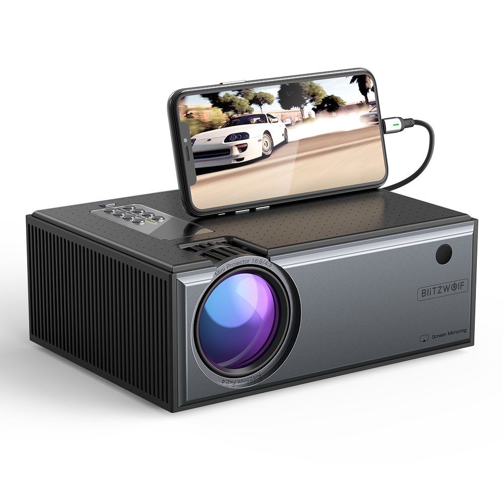 Projector 720P Phone Screen Mirroring
