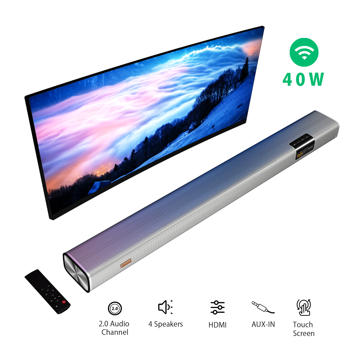 Soundbar 40W 2.0 Audio Channel