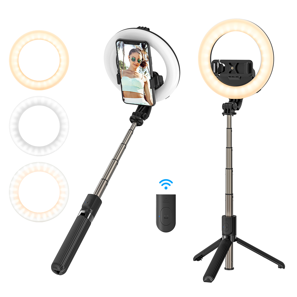 Fill Light Selfie Stick Tripod Foldable