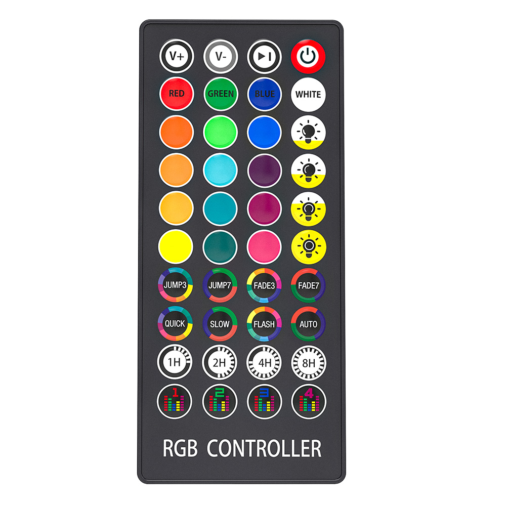 WiFi RGB Strip Controller With 40 key Remote Control